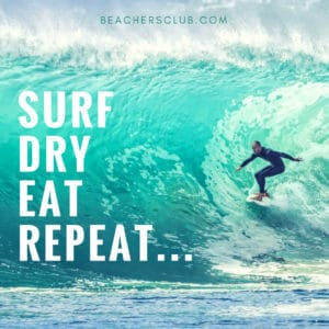 mediagraphyx.com Surf Dry Eat Repeat Instagram Ad